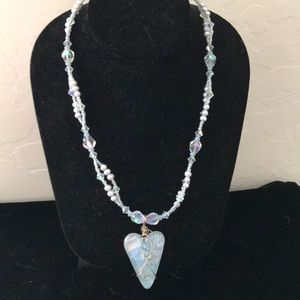 Beautifully designed and created crystal necklace
